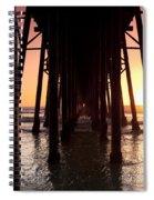 Oceanside Pier Tunnel Spiral Notebook