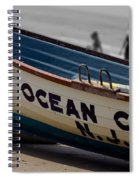 Ocean City Nj Iconic Life Boat Spiral Notebook
