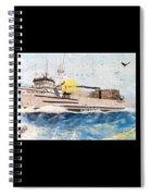 Ocean Olympic King Crab Fishing Boat Nautical Chart Map Art Spiral Notebook