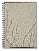 Ocean Sand Art Below Spiral Notebook