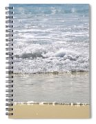 Ocean Shore With Sparkling Waves Spiral Notebook