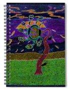 Ocean Side Flower At Sun Set    V3 Spiral Notebook