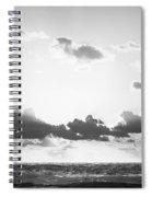Ocean Sunrise Black And White Spiral Notebook