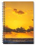 Ocean Sunrise Clouds Spiral Notebook