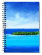 Ocean Tropical Island Spiral Notebook