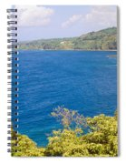 Ocean View From The Road To Hana, Maui Spiral Notebook