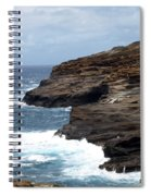 Ocean Vs. Rock Spiral Notebook