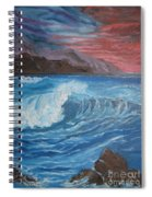 Ocean Wave Spiral Notebook