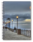Oceanside Pier At Sunset Spiral Notebook
