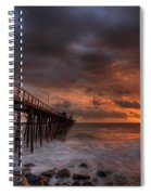 Oceanside Pier Perfect Sunset Spiral Notebook