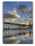 Oceanside Pier Sunset Reflection Spiral Notebook