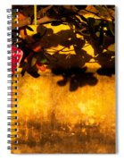 Ochre Wall Silk Lantern 01 Spiral Notebook
