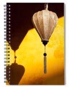 Ochre Wall Silk Lanterns  Spiral Notebook