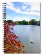 October On The Lake Spiral Notebook