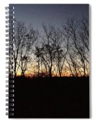 October Sunset Trees Silhouettes Spiral Notebook