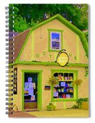 Octopus Bookstore 3rd Ave Bank Street Nepean The Glebe Paintings Of Ottawa Carole Spandau  Spiral Notebook
