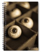 Oddities Fake Eyeballs Spiral Notebook