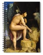 Oedipus And The Sphinx Spiral Notebook