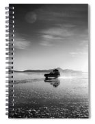 Off Road Uyuni Salt Flat Tour Black And White Spiral Notebook