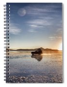 Off Road Uyuni Salt Flat Tour Dramatic Spiral Notebook