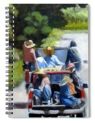 Off To The Vineyards Spiral Notebook