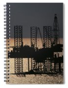 Offshore Drill Rig Platform Spiral Notebook