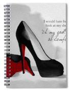Oh My God Louboutin Spiral Notebook