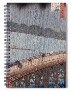 Ohashi Sudden Shower At Atake Spiral Notebook