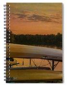 Ohio Autumn In Orange Spiral Notebook