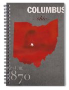 Ohio State University Buckeyes Columbus Ohio College Town State Map Poster Series No 005 Spiral Notebook