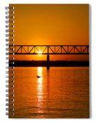 Ohio Sunset Spiral Notebook