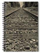 Ohio Train Tracks Spiral Notebook
