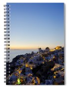 Oia At Dusk Spiral Notebook