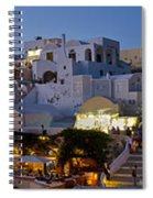 Oia Panorama 3 Spiral Notebook