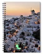 Oia Town During Sunset Spiral Notebook