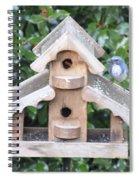 Oil Paint - Blue Bird Spiral Notebook