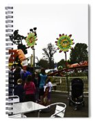 Oil Painting - A Table Along With The Dragon Coaster At The Blair Drummond Safari Park Spiral Notebook