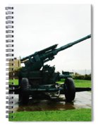 Oil Painting - Anti Aircraft Gun At Dover Castle Spiral Notebook