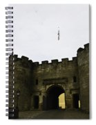 Oil Painting - British Flag Over A Doorway Inside The Stirling Castle Spiral Notebook