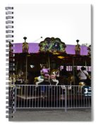 Oil Painting - Children And Adults At The Merry Go Round Inside The Blair Drumm Spiral Notebook