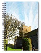 Oil Painting - Lighthouse And Church Inside Dover Castle Spiral Notebook
