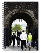 Oil Painting - Staff And Tourists At The Entrance Of Stirling Castle Spiral Notebook