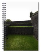 Oil Painting - The Depth Of The Moat Now Covered With Grass At Stirling Castle Spiral Notebook