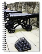 Oil Painting - Tourists And Cannons With Ammunition At The Wall Of Stirling Castle Spiral Notebook