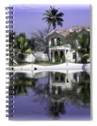 Oil Painting - View Of The Cottages And Palm Trees Spiral Notebook