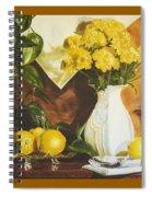 oil painting print of art for sale Golden Lemons  Spiral Notebook