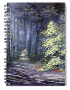 Oil Painting - Forest Light Spiral Notebook