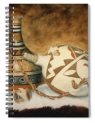 Oil Painting - Indian Pots Spiral Notebook