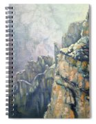 Oil Painting - Majestic Canyon Spiral Notebook