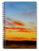 Oil Painting - When The Clouds Turn Red Spiral Notebook